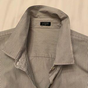J Crew striped button down blouse